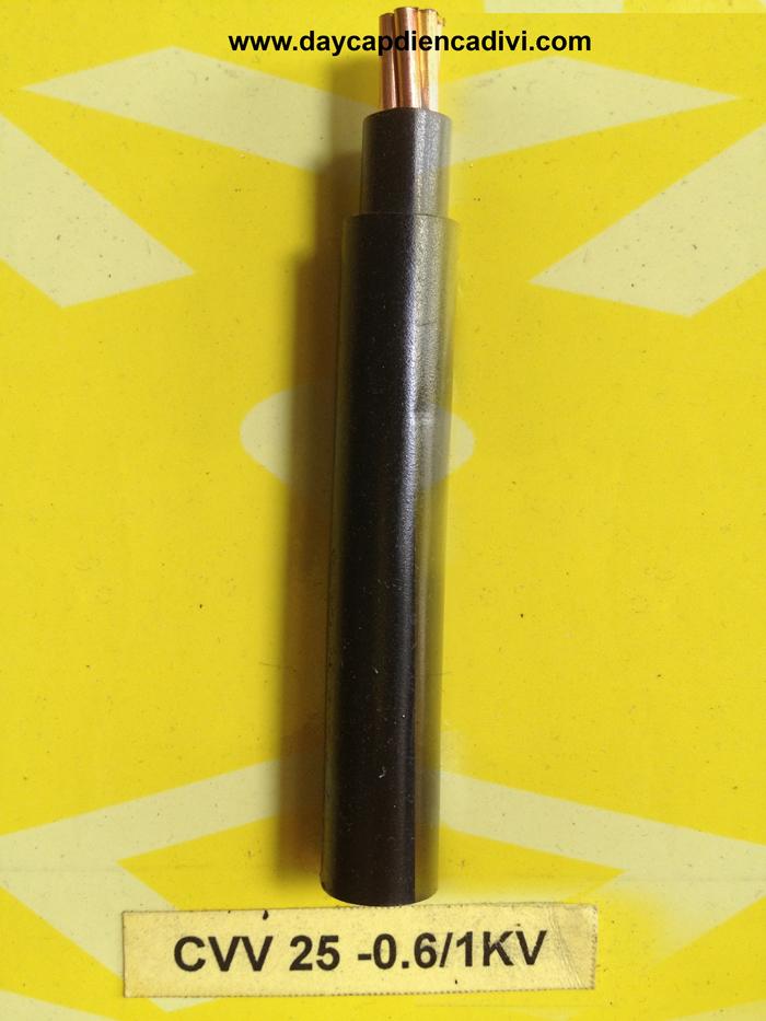 CVV-25-0.6/1kV Cu/PVC/PVC