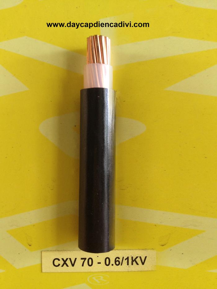 CXV-70-0.6/1kV Cu/XLPE/PVC