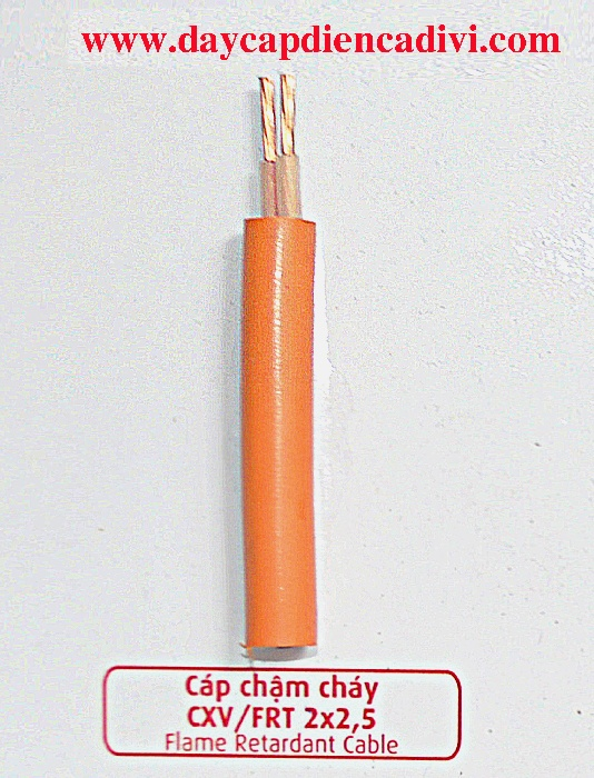 Cáp Chậm Cháy CXV/FRT 2x2.5mm2