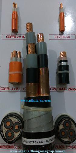 CÁP TRUNG THẾ GIÁP BĂNG  CXV/SE/DSTA 3x240-12/20(24)kV