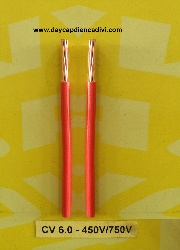 CV-6-450/750V Cu/PVC