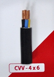 Cáp Nguồn CVV 4x6mm2-300/500V